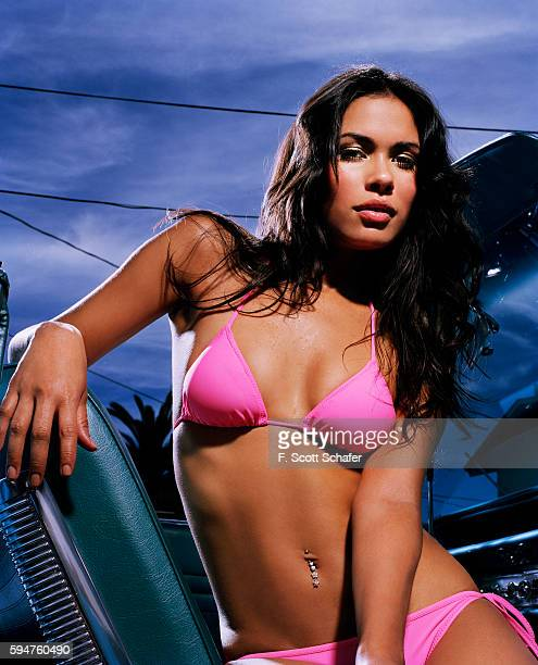 Actress Daniella Alonso is photographed for Maxim Magazine in 2006 in Los Angeles California Hair by Christophe Saluzzo and makeup by Melanie for...