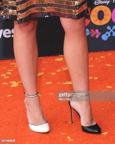 Actress Daniella GarciaLorido shoe detail attends the US Premiere of Disney Pixar's 'Coco' at El Capitan Theatre on November 8 2017 in Los Angeles...