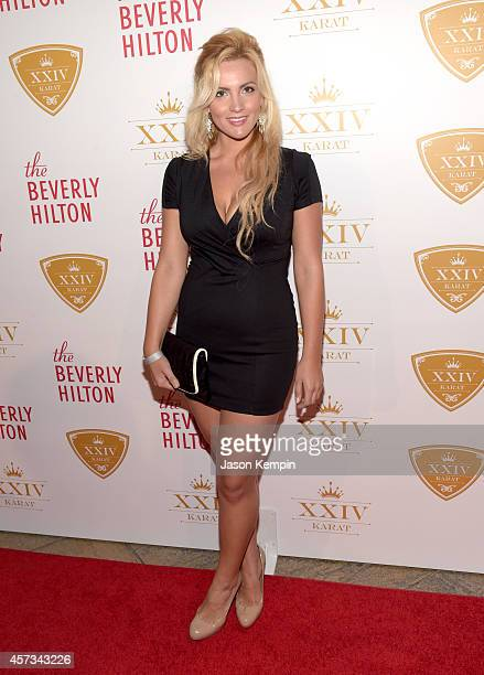 Actress Daniella Mcbride attends The XXIV Karat Launch Party at The Beverly Hilton Hotel on October 16 2014 in Beverly Hills California