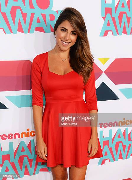 Actress Daniella Monet arrives at the 5th Annual TeenNick HALO Awards at Hollywood Palladium on November 17 2013 in Hollywood California