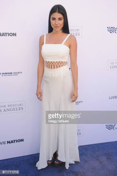 Actress Daniella Monet arrives at the Humane Society Of The United States' Annual To The Rescue Los Angeles Benefit at Paramount Studios on April 22...