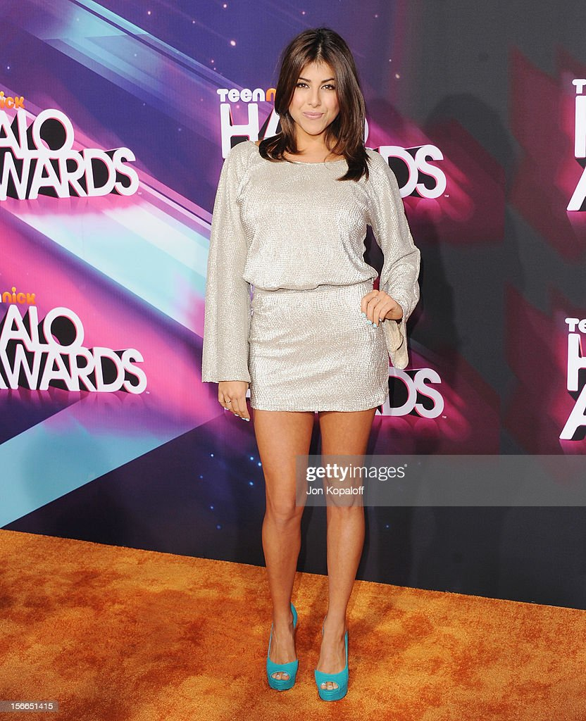Actress Daniella Monet arrives at the TeenNick HALO Awards at The Hollywood Palladium on November 17, 2012 in Los Angeles, California.