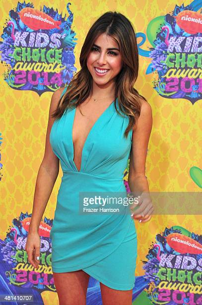 Actress Daniella Monet attends Nickelodeon's 27th Annual Kids' Choice Awards held at USC Galen Center on March 29 2014 in Los Angeles California