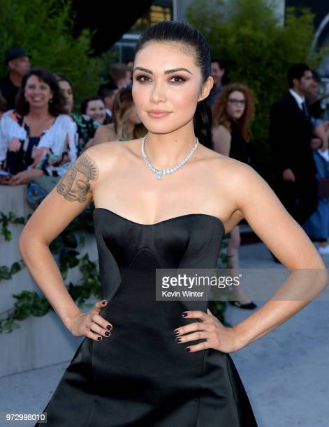 Actress Daniella Pineda arrives at the premiere of Universal Pictures and Amblin Entertainment's 'Jurassic World Fallen Kingdom' at the Walt Disney...