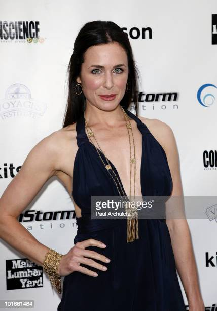 Actress Danielle Bisutti arrives at the 1st annual My Ocean Planet fundraiser benefitting project Kaisei at The Malibu Lumber Yard on June 5 2010 in...