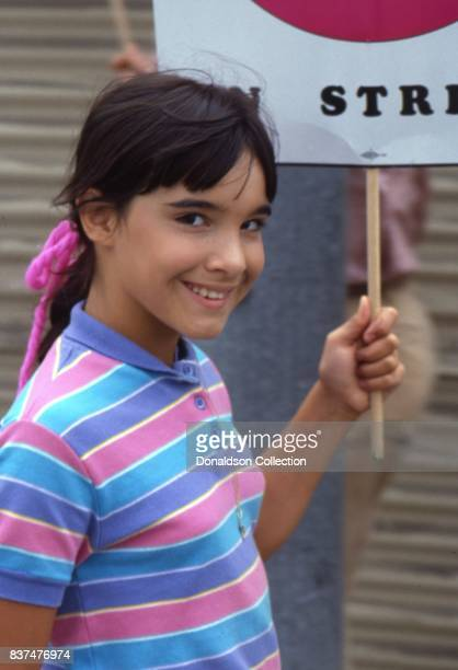 Actress Danielle Brisebois attends SAG and AFTRA Actors On Strike in circa 1980 in Los Angeles California