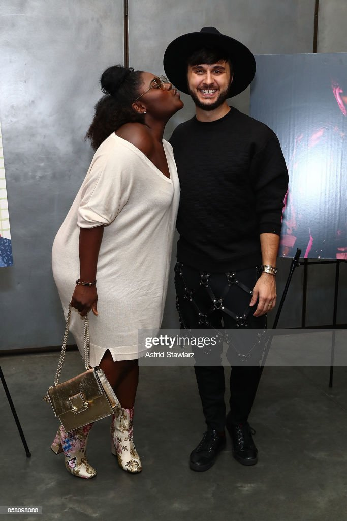 Actress Danielle Brooks and Brad Walsh attend Brad Walsh 'Antiglot' performance and album release party at Pier 59 Studios on October 5, 2017 in New York City.