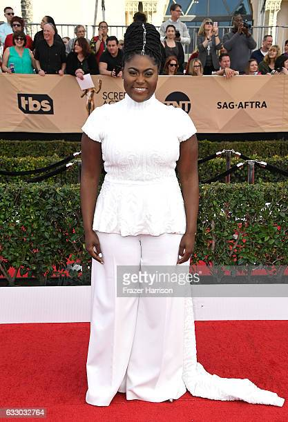 Actress Danielle Brooks attends The 23rd Annual Screen Actors Guild Awards at The Shrine Auditorium on January 29 2017 in Los Angeles California...