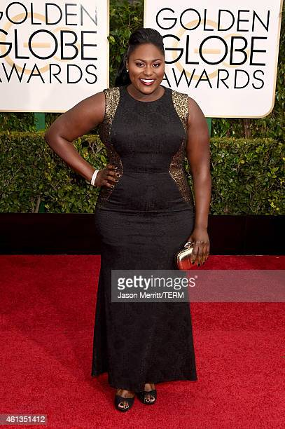 Actress Danielle Brooks attends the 72nd Annual Golden Globe Awards at The Beverly Hilton Hotel on January 11 2015 in Beverly Hills California