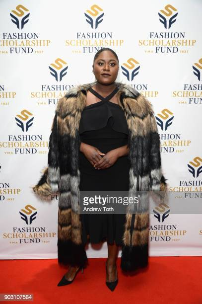 Actress Danielle Brooks attends the 81st Annual YMA Fashion Scholarship Fund National Merit Scholarship Awards Dinner at Marriott Marquis Times...