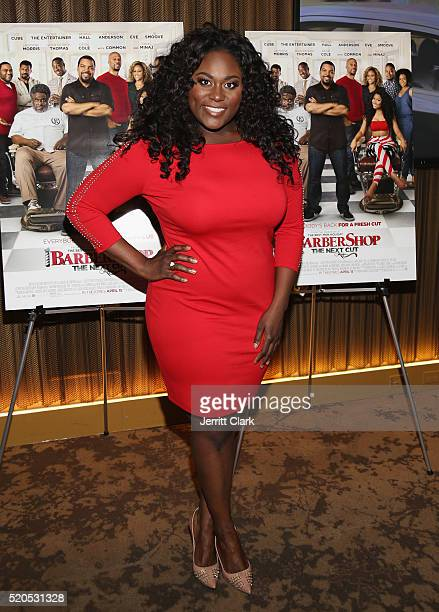 Actress Danielle Brooks attends the Barbershop The Next Cut Screeing at HBO Screening Room on April 11 2016 in New York City