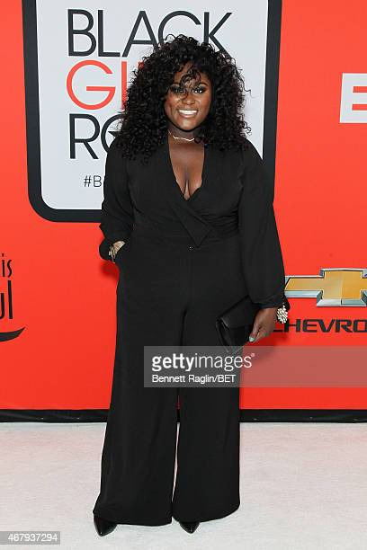 Actress Danielle Brooks attends the BET's Black Girls Rock Red Carpet sponsored by Chevrolet at NJPAC – Prudential Hall on March 28 2015 in Newark...