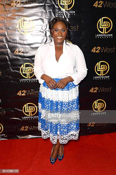 Actress Danielle Brooks attends The Color Purple's Rema Webb's onewoman show 'Children Will Listen' on April 25 2016 in New York New York