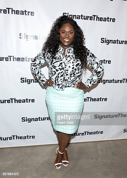 Actress Danielle Brooks attends the opening night of Daphne's Dive at Signature Theatre Company's Pershing Square Signature Center on May 15 2016 in...