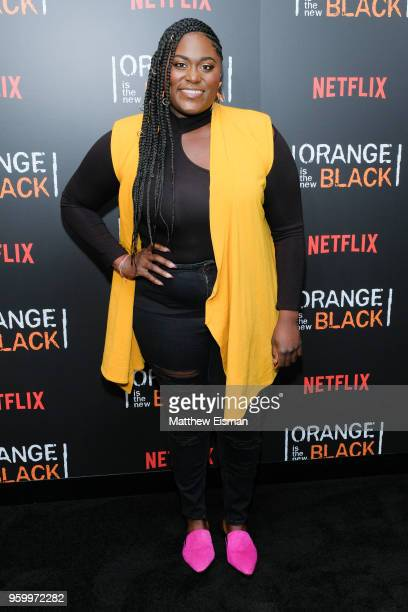 "Actress Danielle Brooks attends the ""Orange Is The New Black"" EMMY FYC red carpet at Crosby Street Hotel on May 18, 2018 in New York City."