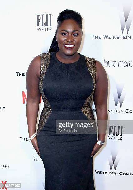 Actress Danielle Brooks attends The Weinstein Company Netflix's 2015 Golden Globes After Party presented by FIJI Water Lexus Laura Mercier and Marie...