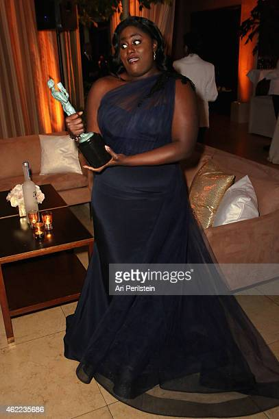 Actress Danielle Brooks attends The Weinstein Company Netflix's 2015 SAG After Party In Partnership With Laura Mercier at Sunset Tower on January 25...