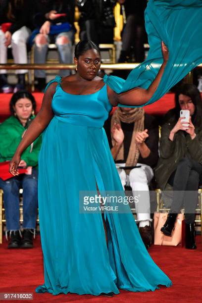 Actress Danielle Brooks walks the runway at Christian Siriano Ready to Wear Fall/Winter 20182019 fashion show during the February 2018 New York...