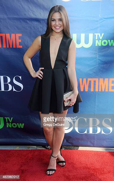 Actress Danielle Campbell arrives at the 2014 Television Critics Association Summer Press Tour CBS CW And Showtime Party at Pacific Design Center on...