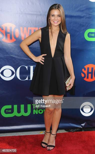 Actress Danielle Campbell arrives at the CBS The CW Showtime CBS Television Distribution 2014 Television Critics Association Summer Press Tour at...