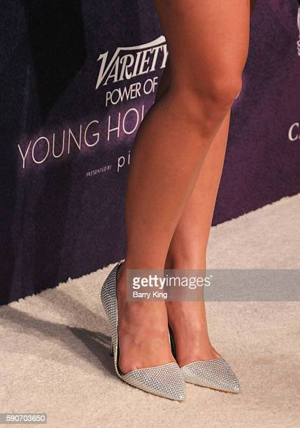 Actress Danielle Campbell shoe detail attends Variety's Power of Young Hollywood event presented by Pixhug with Platinum Sponsor Vince Camuto at...