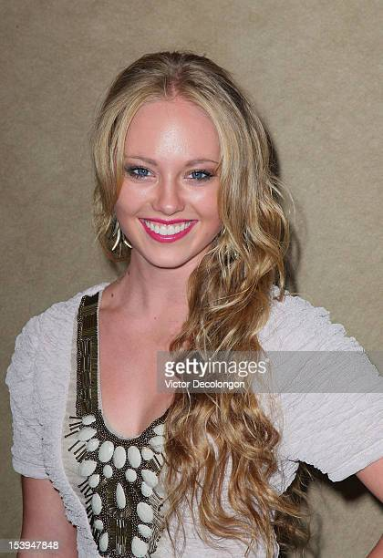 Actress Danielle Chuchran arrives for the sneak preview of 12 Dogs Of Christmas Great Puppy Rescue on October 4 2012 in Los Angeles California
