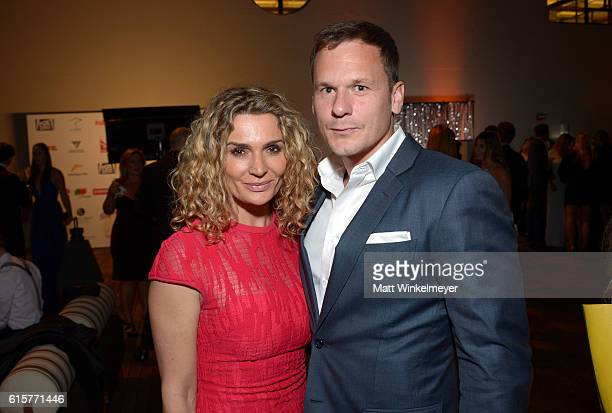 Actress Danielle Cormack and Adam Anthony attend Australians In Film's 5th Annual Awards Gala at NeueHouse Hollywood on October 19 2016 in Los...