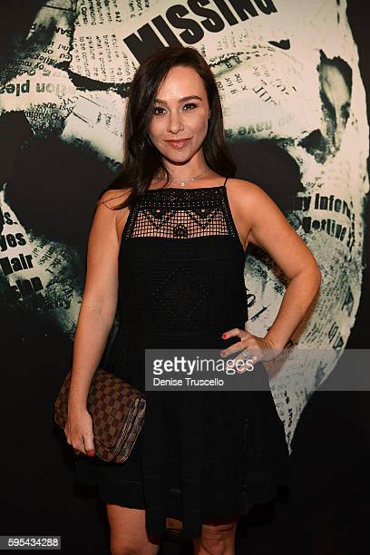 Actress Danielle Harris arrives at the premiere of 'The Neighbor' at Brenden Theaters at Palms Casino Resort on August 25 2016 in Las Vegas Nevada