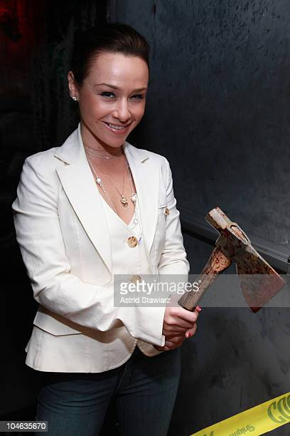 Actress Danielle Harris attends the 2010 ribboncutting ceremony at Blood Manor on October 1 2010 in New York City
