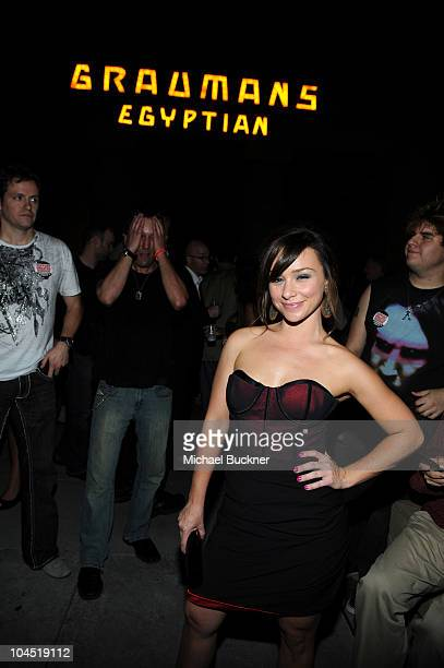 Actress Danielle Harris attends the cocktail reception of Dark Sky Films' 'Hatchet II' at Grauman's Egyptian Theatre on September 28 2010 in...