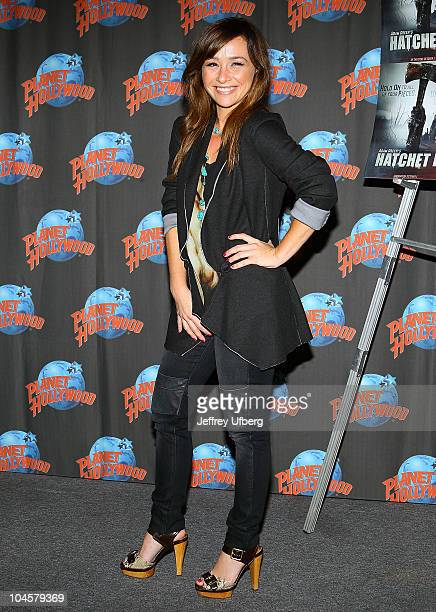 Actress Danielle Harris visits Planet Hollywood Times Square on September 30 2010 in New York City