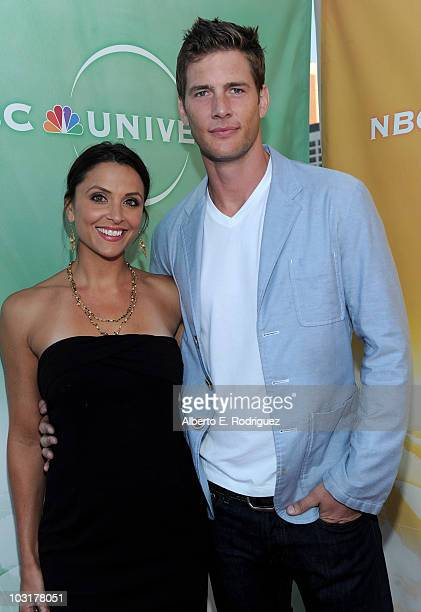 Actress Danielle Kirlin and actor Ryan McPartlin arrive to NBC Universal's 2010 TCA Summer Party on July 30 2010 in Beverly Hills California