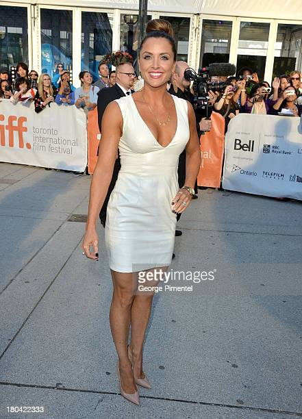 Actress Danielle Kirlin arrive at The Right Kind Of Wrong Premiere during the 2013 Toronto International Film Festival at Roy Thomson Hall on...