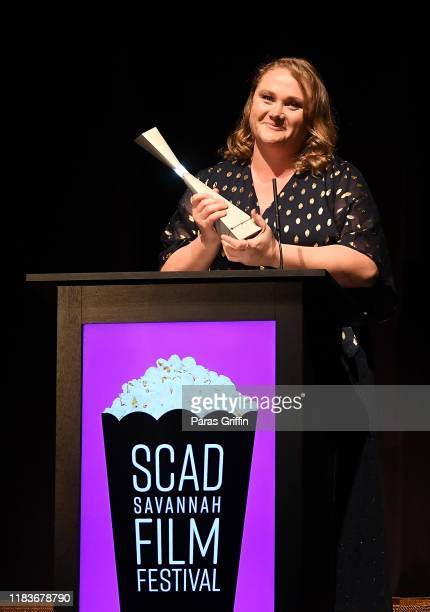 Actress Danielle Macdonald speaks onstage during the opening reception for the 22nd SCAD Savannah Film Festival on October 26, 2019 at Trustees...