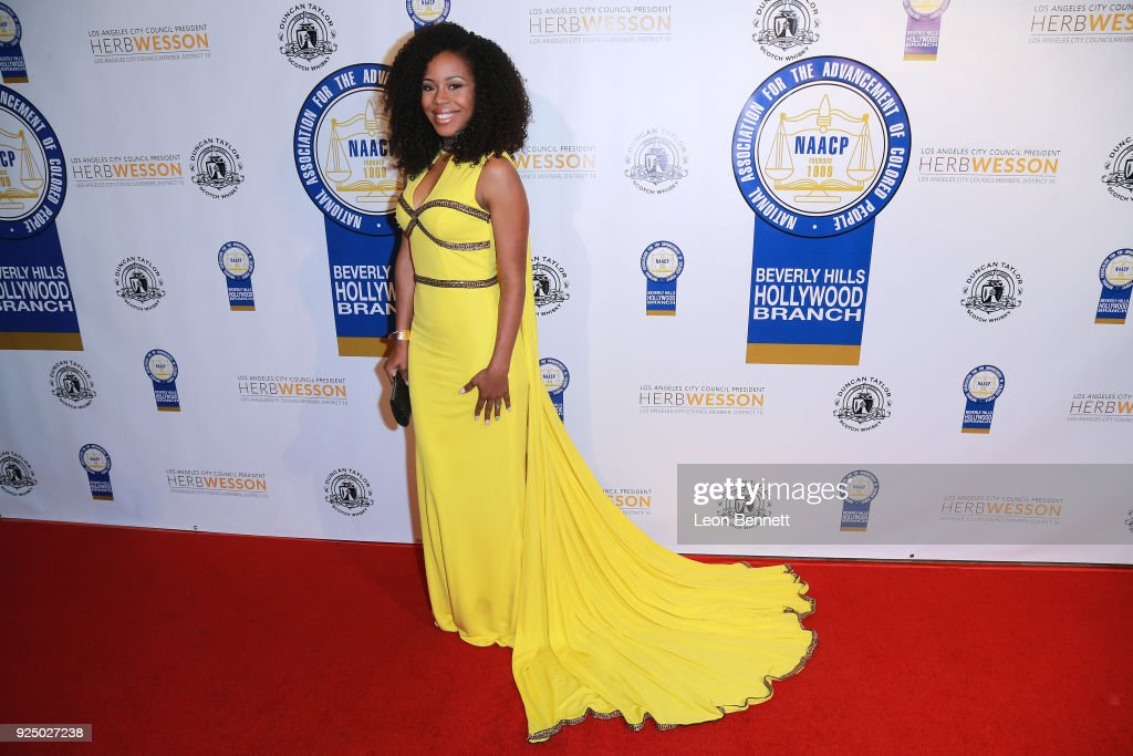 Actress Danielle Mon Truitt attends the 27th Annual NAACP Theatre Awards at Millennium Biltmore Hotel on February 26, 2018 in Los Angeles, California.