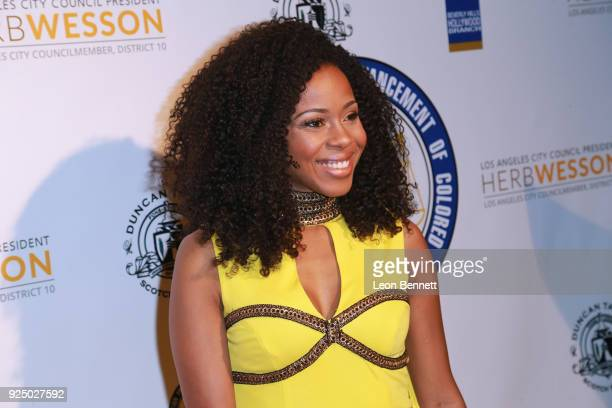 Actress Danielle Mon Truitt attends the 27th Annual NAACP Theatre Awards at Millennium Biltmore Hotel on February 26 2018 in Los Angeles California