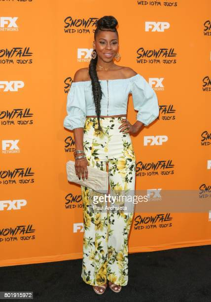 Actress Danielle Mone Truitt attends the premiere of FX's Snowfall at The Theatre at Ace Hotel on June 26 2017 in Los Angeles California