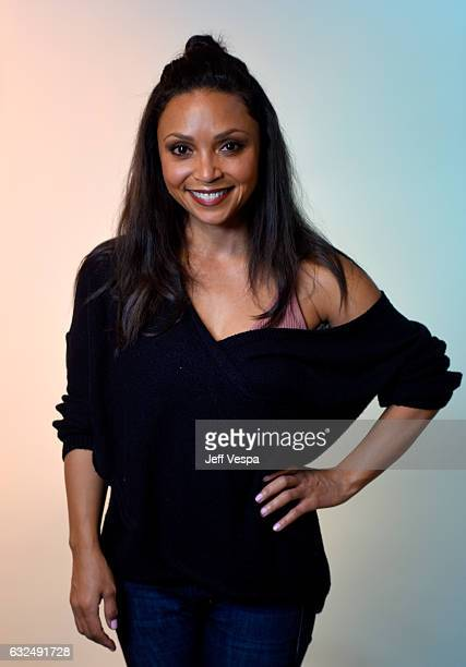 Actress Danielle Nicolet from the film Deidra Laney Rob a Train poses for a portrait in the WireImage Portrait Studio presented by DIRECTV during the...