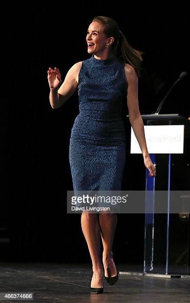 """Actress Danielle Panabaker appears on stage during the """"Arrow"""" & """"The Flash"""" event at The Paley Center For Media's 32nd Annual PALEYFEST LA at the..."""