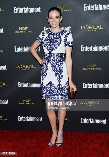 Actress Danielle Panabaker arrives at the 2014 Entertainment Weekly PreEmmy Party at Fig Olive Melrose Place on August 23 2014 in West Hollywood...