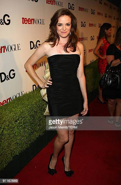 Actress Danielle Panabaker arrives at the 7th Annual Teen Vogue Young Hollywood Party held at Milk Studios on September 25, 2009 in Hollywood,...