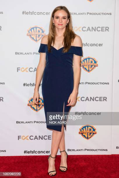 US actress Danielle Panabaker arrives for the F*ck Cancer Gala at Warner Bros Studio in Burbank California on October 13 2018