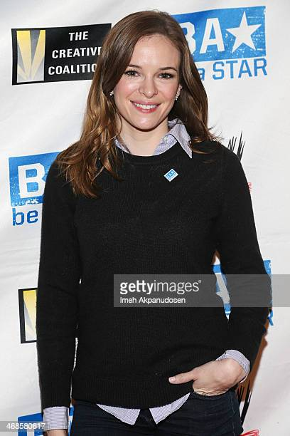 Actress Danielle Panabaker attends a 'Be A STAR' Bullying Prevention Rally presented by WWE And The Creative Coalition at James Madison Middle School...