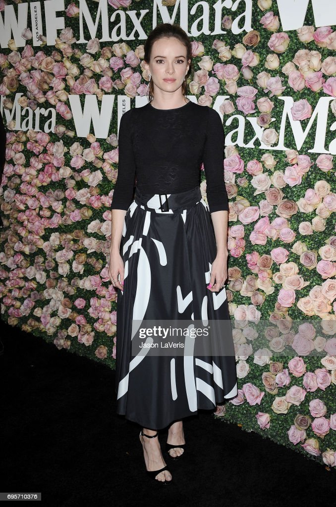 Actress Danielle Panabaker attends Max Mara and Vanity Fair's celebration of Women In Film's Face of the Future Award recipient, Zoey Deutch at Chateau Marmont on June 12, 2017 in Los Angeles, California.