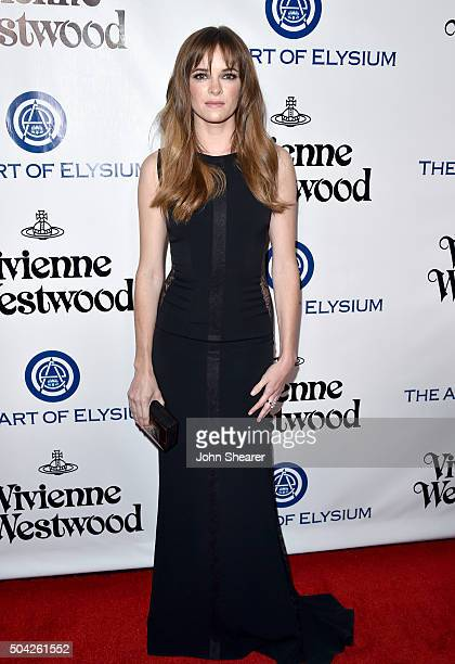 Actress Danielle Panabaker attends The Art of Elysium 2016 HEAVEN Gala presented by Vivienne Westwood & Andreas Kronthaler at 3LABS on January 9,...