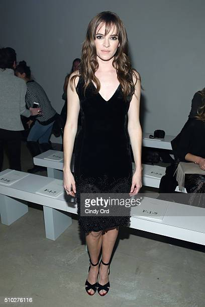 Actress Danielle Panabaker attends the Jenny Packham Fall 2016 fashion show during New York Fashion Week The Shows at The Gallery Skylight at...