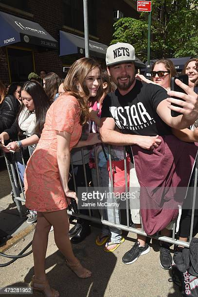 Actress Danielle Panabaker greets fans at the CW Network's 2015 Upfront at the London Hotel on May 14 2015 in New York City