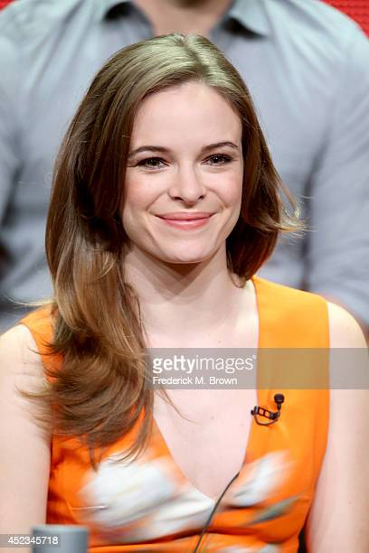 Actress Danielle Panabaker speaks onstage at the 'The Flash' panel during the CW Network portion of the 2014 Summer Television Critics Association at...