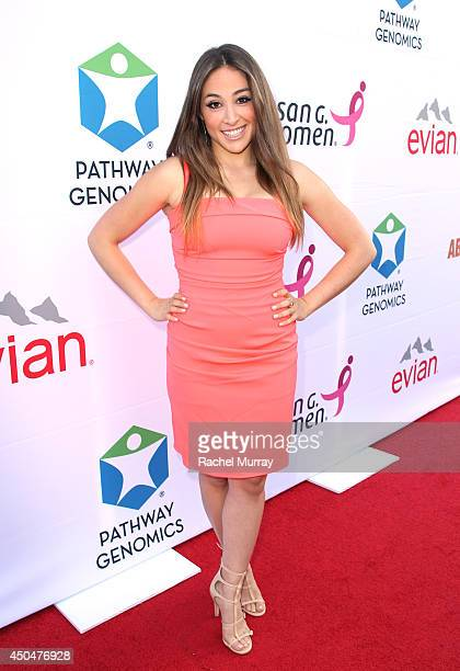 Actress Danielle Robay attends PATHWAY TO THE CURE A fundraiser benefiting Susan G Komen presented by Pathway Genomics Relativity Media and evian...