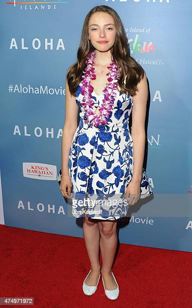Actress Danielle Rose Russell arrives at the Los Angeles Premiere Aloha at The London West Hollywood on May 27 2015 in West Hollywood California
